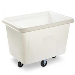 """Beschickungswagen """"Cube Truck"""", 400 Liter, weiß, Polyehtylen-Kunststoff (PE), LxBxH 1120x790x830 mm"""
