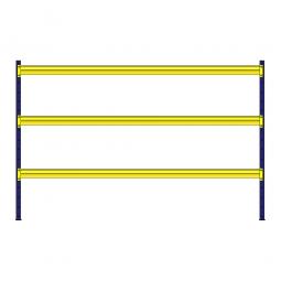 Weitspannregal mit 3 Holzbodenebenen, Stecksystem, BxTxH 3080 x 1005 x 2000 mm, Tragkraft 435 kg/Ebene