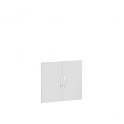 Flügeltüren FLEX für 2 Ordnerhöhen, lichtgrau, Breite 800 mm, mit Metallscharnieren und Türdämpfern