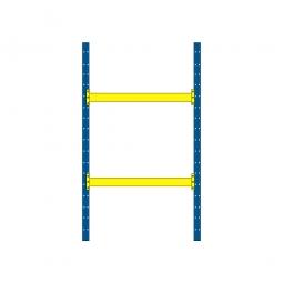 Palettenregal mit 2 Paar Tragbalken für 6 Europaletten, Tragkraft 3100 kg/Tragbalkenpaar, BxTxH 2025 x 1100 x 3500 mm