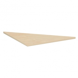 Verkettungsplatte ELEGANCE Dreieck 90°, Dekor Ahorn, BxT 800x800 mm