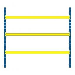 Palettenregal mit 3 Paar Tragbalken für 12 Europaletten, Fachlast 2600 kg/Tragbalkenpaar, BxTxH 2925 x 1100 x 3500 mm