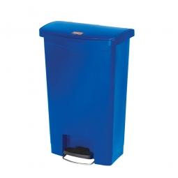 Tretabfalleimer SlimJim, 50 Liter, blau, BxTxH 457x292x719 mm, Polyethylen, Pedal an der Breitseite