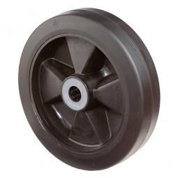 Elastic-Gummirad, Rad-ØxB 125x50 mm, Tragkraft 300 kg, schwarz