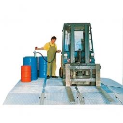 Bodenwanne, Auffangvolumen: 20 Liter, LxBxH 500 x 500 x 118 mm, feuerverzinkt