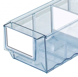 Etiketten für Klarsicht-Regalkästen B 91 mm, weiß, VE=100 Stück