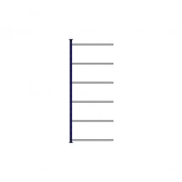 Ordner-Steck-Anbauregal, einseitige Ausführung, HxBxT 2000x835x315 mm, Oberfläche kunststoffbeschichtet