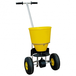 Streuwagen, Inhalt 20 L, gelb, Für mittlere Streuflächen, 3 Streustufen, Streubreite bis 4 m