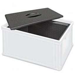 Eurobehälter mit EPP-Isolierbox, geschlossen, LxBxH 600 x 400 x 320 mm, 34 Liter, weiß