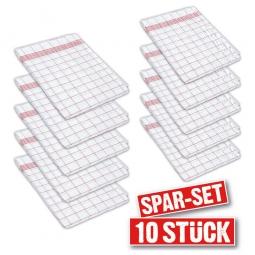 10er-Set Geschirrtücher mit rot/weißem Karomuster, LxB 800 x 600 mm, Zwirnhalbleinen entspr. TB3/G29