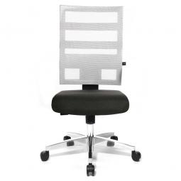 Drehsessel X-Pander, Sitz schwarz, Netzrücken weiß, Sitz HxBxT 410-530x480x480 mm, Rückenlehnenhöhe 600 mm