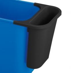 Zusatzbehälter, 4,5 Liter, schwarz, BxTxH 265x120x295 mm, Polyethylen