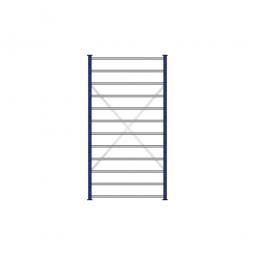 Fächerregal Flex, Stecksystem, kunststoffbeschichtet, BxTxH 1070 x 415 x 2000 mm