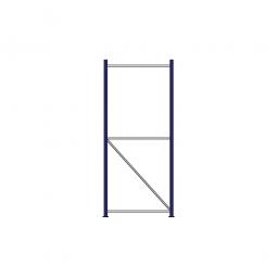 Regalrahmen für Weitspannregale, Stecksystem, fertig montiert, TxH 800 x 2000 mm, Rahmenbreite 40 mm