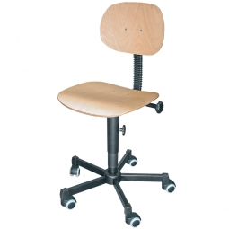 Arbeitsdrehstuhl, Sitz- u. Rückenlehne in Buchenschichtholz