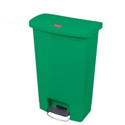 Tretabfalleimer SlimJim, 68 Liter, grün, LxBxH 500x311x803 mm, Polyethylen, Pedal an der Breitseite