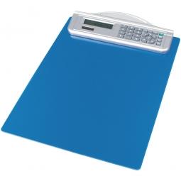 Schreibplatte mit Solarrechner, blau, HxB 335x215 mm