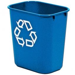 Papierkorb, 26 Liter, blau, Polyethylen, BxTxH 365x260x380 mm
