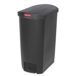 Tretabfalleimer SlimJim, 68 Liter, schwarz, LxBxH 562x374x782 mm, Polyethylen, Pedal an der Schmalseite