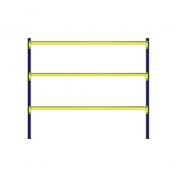 Weitspannregal mit 3 Stahlblechebenen, Stecksystem, BxTxH 2380 x 1205 x 2000 mm, Tragkraft 1100 kg/Ebene