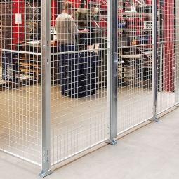 Maschinengitter-Grundelement, 2950 mm hoch, Wandbreite 250 mm
