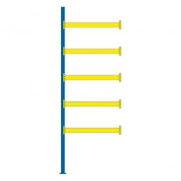 Paletten-Anbauregal für 12 Europaletten, Tragbalkenebenen mit 38 mm Spanplattenböden, Fachlast 2200 kg/Tragbalkenpaar, BxTxH 1885 x 1100 x 5500 mm