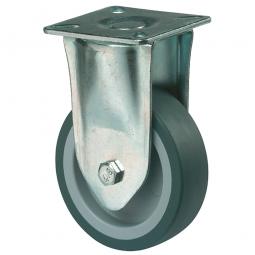 Apparate-Bockrolle, Rad-ØxB 100x23 mm, Tragkraft 65 kg, grau