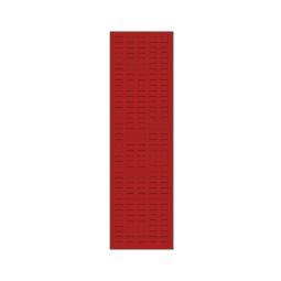 System-Schlitzplatte BxHxT 450x1500x18 mm, Aus 1,25 mm Stahlblech, kunststoffbeschichtet in verkehrsrot