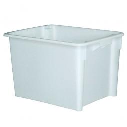 Drehstapelbehälter, LxBxH 800 x 600 x 505 mm, 170 Liter, weiß