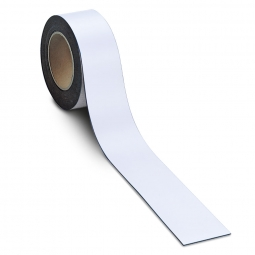 Magnetschilder, 10 m Rolle, Höhe: 50 mm, weiß, Materialstärke: 0,9 mm, für alle magnetischen Untergründe