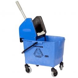 Reinigungswagen mit Mopp-Presse, blau