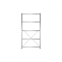 Fachbodenregal Economy mit 5 Böden, Stecksystem, BxTxH 1060x435x2000 mm, Tragkraft 150 kg/Boden, glanzverzinkt
