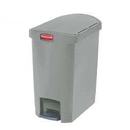 Tretabfalleimer SlimJim, 30 Liter, grau, LxBxH 497x312x566 mm, Polyethylen, Pedal an der Schmalseite