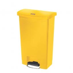 Tretabfalleimer Slim Jim, 50 Liter, gelb, LxBxH 457 x 292 x 719 mm