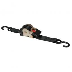 Zurrgurt mit Aufrollmechanik, einteilig, LxB 3000x50 mm, Gurtfarbe schwarz, aus Polyester