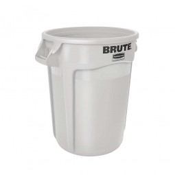 Runder Brute Container, 121 Liter, weiß