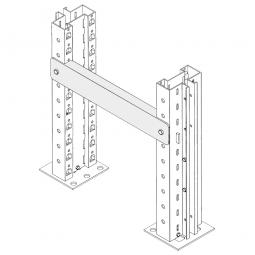 Reihenabstandshalter für Regalabstand 300 mm, Für gleichmäßigen Abstand der Regalrahmen bei Doppelregalen