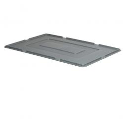 Auflagedeckel für Euro-Stapelbehälter, LxB 600 x 400 mm, 900 g, grau