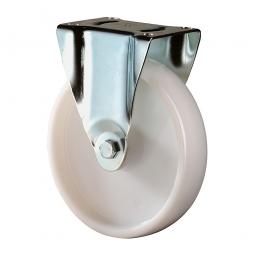 Schwerlast-Bockrolle, Rad-ØxB 125x45 mm, Tragkraft 400 kg, weiß
