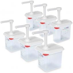 Spar-Set mit 2 x 3 Pumpspendern, 3x Pumpspender 1,5 Liter + 3x Pumpspender 2,6 Liter