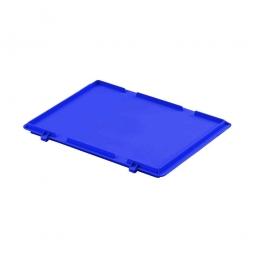 Scharnierdeckel für Euro-Stapelbehälter, LxB 400 x 300 mm, blau