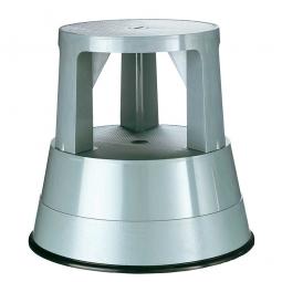 Rolltritt aus Kunststoff, grau, Tragkraft 150 kg, Ø 290/440 mm, Höhe 430 mm