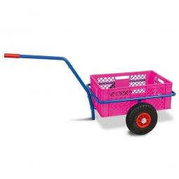 Handwagen mit Kunststoffkorb, H 240 mm, violett, LxBxH 1250 x 640 x 660 mm, Tragkraft 200 kg