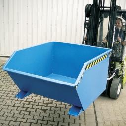 Kippbehälter, LxBxH 1640x1280x780 mm, lackiert, Volumen 1,00 m³, Tragkraft 1500 kg, Gewicht 184 kg