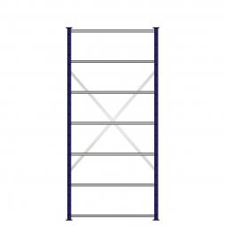 Ordner-Steck-Grundregal, einseitige Ausführung, HxBxT 2300x1070x315 mm, Oberfläche kunststoffbeschichtet