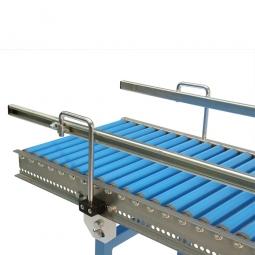 Gerade Seitenführung, doppelseitige Ausführung, Aus U-Profil 20/70/20 mm, für Bahnlänge: 1000 mm