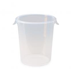 Runder Lebensmittelbehälter, Inhalt 7,5 Liter, HxØ 270x255 mm, mit Massskala