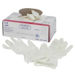 Erste-Hilfe-Handschuhe, Gr. M, VE=100 Stück, Material Latex