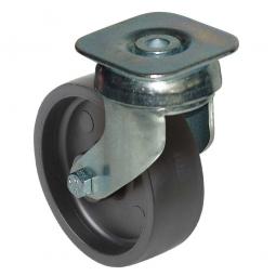 Lenkrolle für Transportroller, Rad-Farbe schwarz, Rad-ØxB 100x32 mm, Tragkraft 85 kg