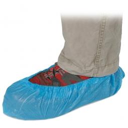 Einweg-Überziehschuhe, Polyethylen, blau, passend für jedes Schuhwerk und jede Größe